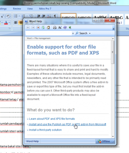 install publish as pdf word 2007 ke pdf 2