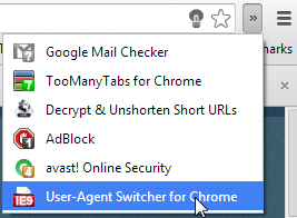 user agent switcher internet explorer