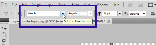 set font photoshop
