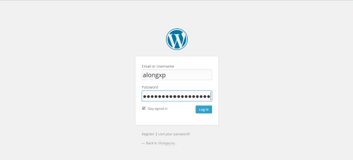 login page wordpress.com