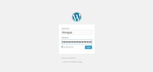 login page wordpress.org