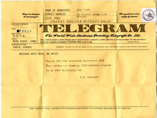 old school telegram
