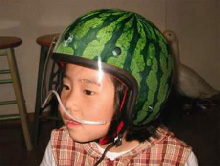 watermelon helmet