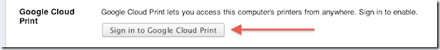 sign in google cloud print