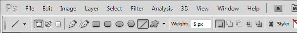 photoshop cs 5 menu bar