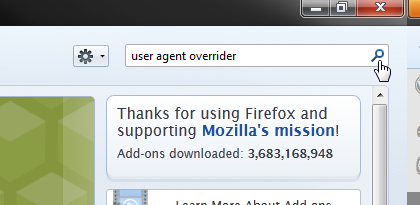 search user agent overrider