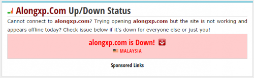 blog saya down ke