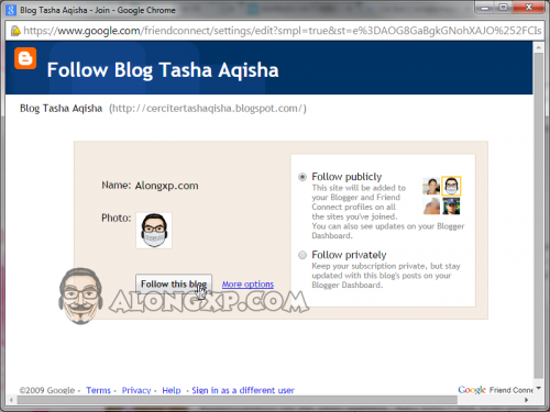 follow blog tasha aqisha