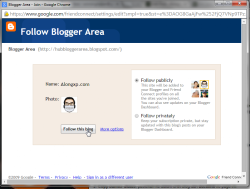follow bloger area