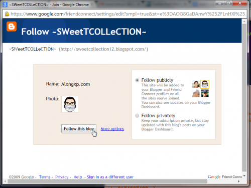 follow sweetcollection