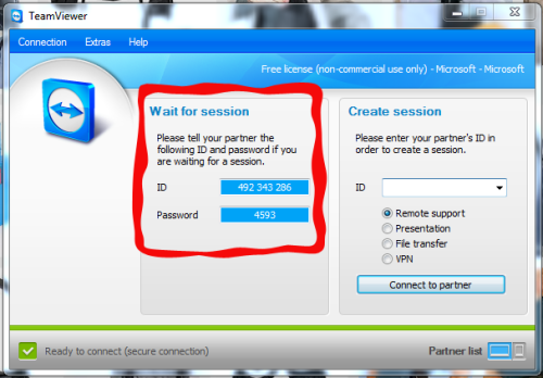 id dan password teamviewer