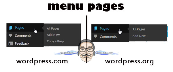 beza menu pages
