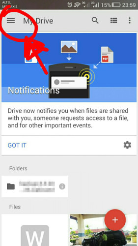 google drive android 1