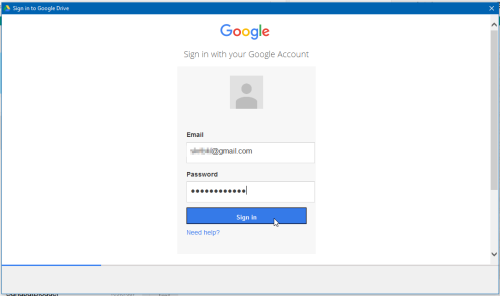 sign in google drive