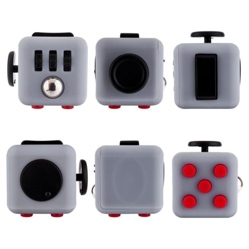 fidget cube grey red